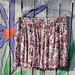 Living Doll Floral Flowing Skirt Large